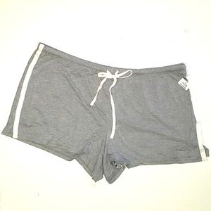Alfani Contrasting Trim Shorts PJs Gray XXL